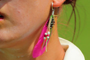 Michelle Wie Feathered Earring