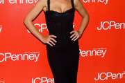 Minka Kelly Wears a Little Black Corset Dress