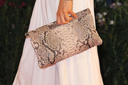 Monica Barladeanu Printed Clutch