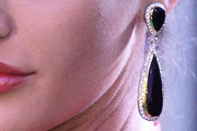 Nargis Fakhri Dangling Gemstone Earrings