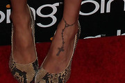 Nicole Richie Cross Tattoo