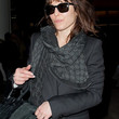 Noomi Rapace Patterned Scarf