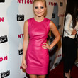 Olivia Holt Clothes - Leather Dress