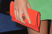 Olivia Munn Leather Clutch