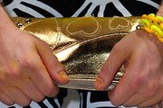 Perez Hilton Metallic Clutch