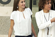 Queen Letizia of Spain Tops