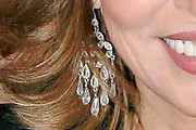 Raquel Welch Crystal Chandelier Earrings