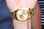 Renee Zellweger Gold Bracelet Watch