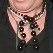 Rhys Ifans Layered Gemstone Necklace