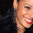 Selita Ebanks Dangling Diamond Earrings
