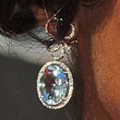 Shaun Robinson Dangling Gemstone Earrings