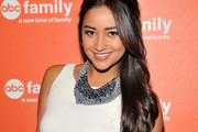 Shay Mitchell Rocks a Half Up Half Down Hairstyle to ABC's Upfront Presentation