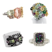 Silver Gemstone Rings