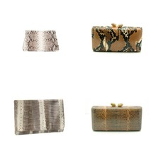 Slithering Snakeskin Box Clutches