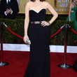 Tina Fey Strapless Dress