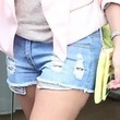 Tulisa Contostavlos Denim Shorts