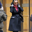 Uma Thurman Clothes - Wool Coat