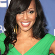Wendy Raquel Robinson Hair - Long Wavy Cut with Bangs
