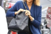 Jessica Alba Leather Shoulder Bag