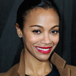 Zoe Saldana Hair - Twisted Bun