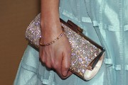 Zooey Deschanel Gemstone Inlaid Clutch