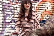 Zooey Deschanel Knit Top