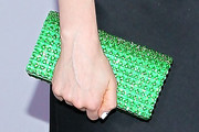 Zooey Deschanel Satin Clutch