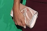 Eva Longoria Satin Clutch