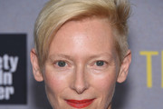 Tilda Swinton Side Parted Straight Cut