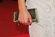 Gemma Ward Metallic Clutch