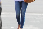 Minka Kelly Ripped Jeans