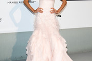 Izabel Goulart Strapless Dress
