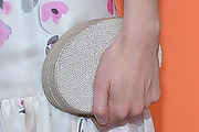 Krysten Ritter Metallic Clutch