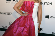 Kylie Minogue Strapless Dress