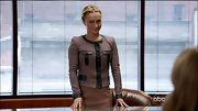 Hayden Panettiere blended classy and cool when she sported this brown jacket with leather trim.