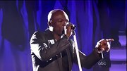 Seal performed on the 'Dancing with the Stars' results show in this metallic blazer.