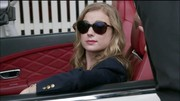 The leading lady looked sporty in her preppy navy blazer, which she wore on a ride into town.