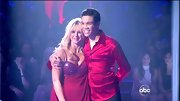 Chelsie Hightower bared her curves on 'DWTS' in a red lingerie-like dress with a beaded bodice.