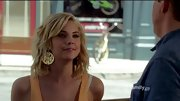 Big gold earrings were a flashy addition to Ashley Benson's tropical summery look on 'Pretty Little Liars.'