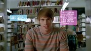 Blake Jenner opted for a classic striped sweater for his casual look on 'Glee.'