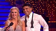 Dancing With The Stars' pro Lindsay Arnold wore her hair in a braided half-up-half-down hairstyle for her dance with famed boxer Victor Ortiz.