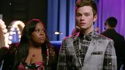Print on print is the hottest new trend, so leave it to Chris Colfer's character to rock a tie-dye plaid button-down with a matching blazer.