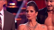 Kelly Monaco layered several silver chains to accessorize her Dancing With The Stars costume.