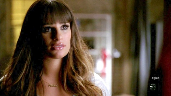 More Pics of Lea Michele Long Straight Cut with Bangs (1 of 33) - Lea Michele Lookbook - StyleBistro