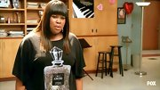 Amber Riley's perfume tee may look high-end but actually was purchased at Target!