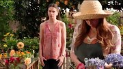 Sutton Foster looked feminine and summery in a pleated floral chiffon top on 'Bunheads.'