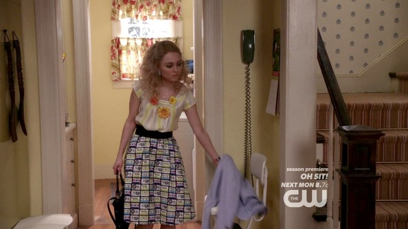 AnnaSophia Robb Knee Length Skirt