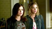 It doesn't get much more basic than Ashley Benson's denim jacket. She kept hers girly with a pink and white tank.