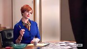 Christina Hendricks chose an electric blue blazer for her look on 'Mad Men.'
