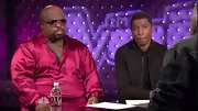 Looks like Cee-Lo was pulling a Hugh Hefner in these fuchsia silk pajamas.